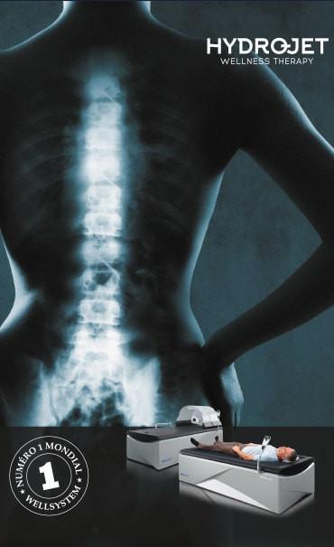 Douleur de dos table de massage Wellsystem d'Hydrojet
