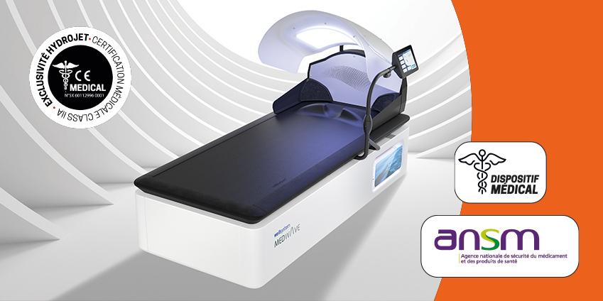 Table de soins HYDROJET : les seuls dispositifs médicaux du marché