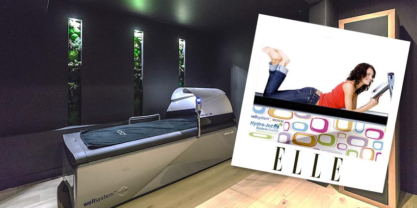 ELLE a testé le lit de massage hydro actif Hydrojet WELLSYSTEM