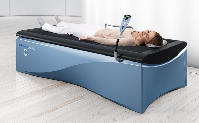 Séance de massage avec wellsystem medical